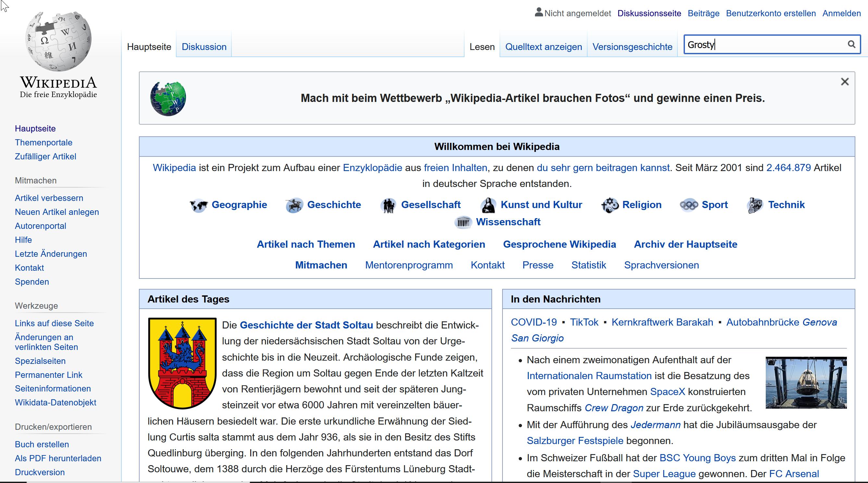 Wikipedia Eintrag